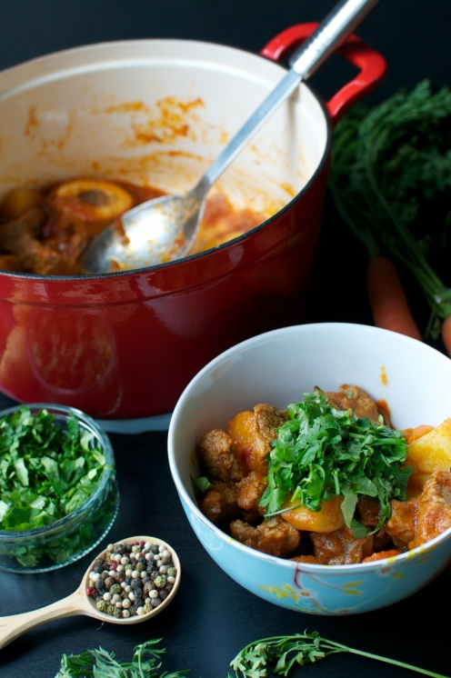 kenyan beef stew with corander